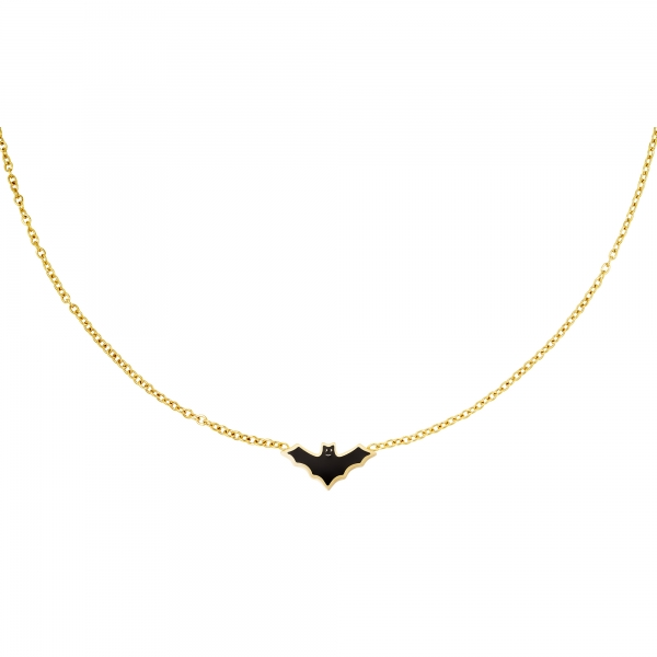 Stainless steel necklace bat