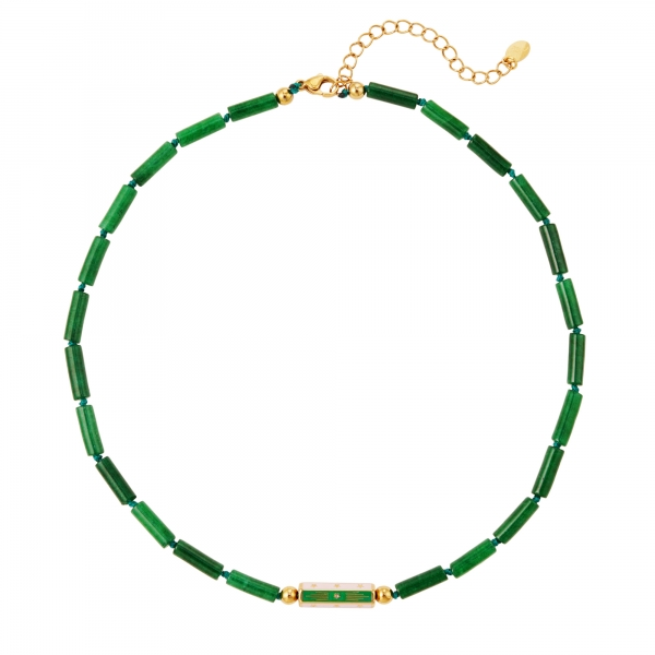 Necklace flat beads