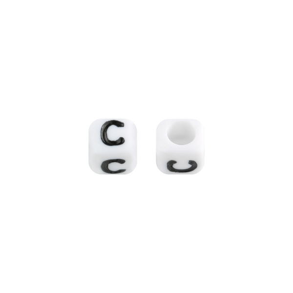 Perles diy letter c - 6mm