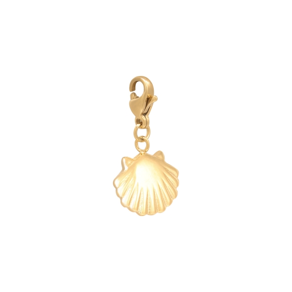 Diy clasp charm clam shell