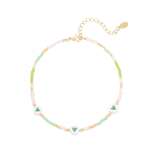 Anklet  heart colors