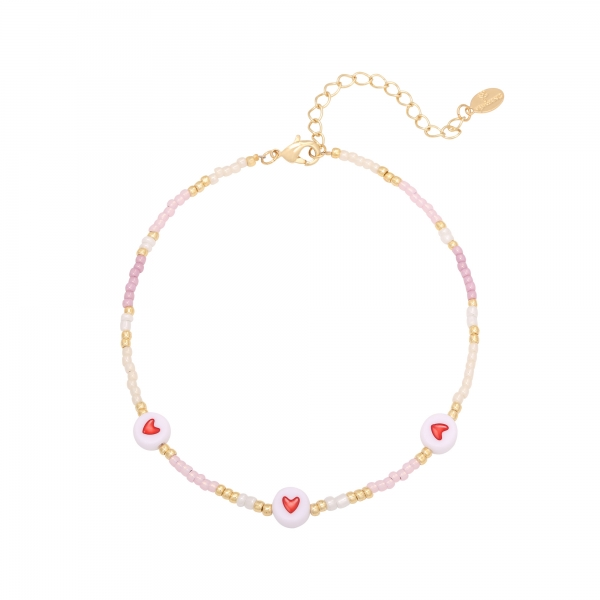 Bracelet de cheville heart colors