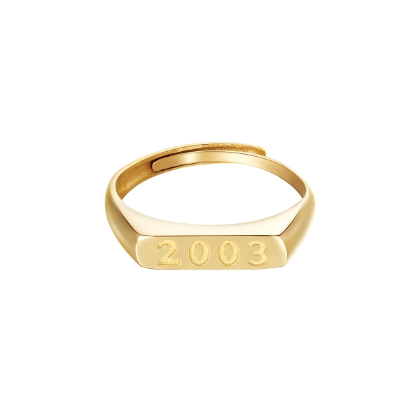 Ring Year Of Birth Goud - 2003