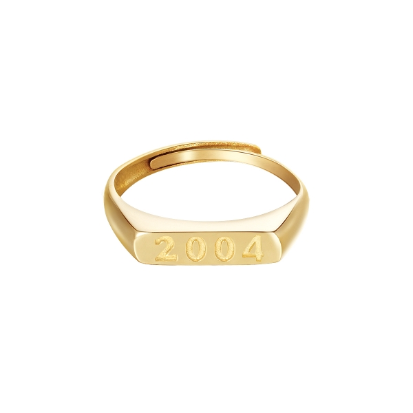 Bague Year Of Birth Or - 2004