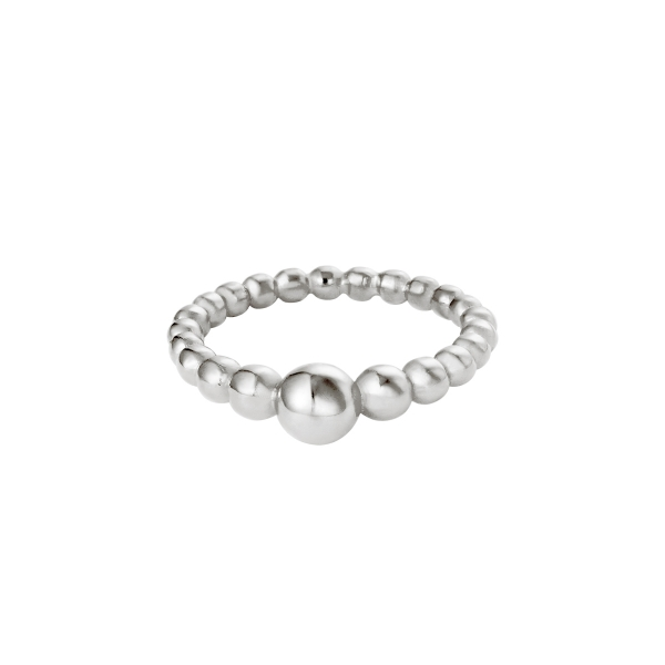 Ring steel pearls