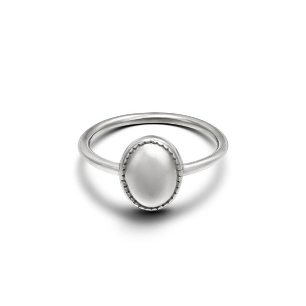 Anillo clean oval