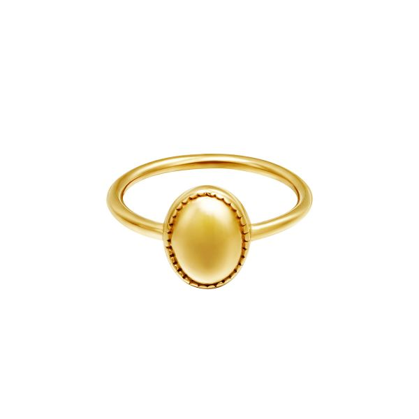 Ring clean oval