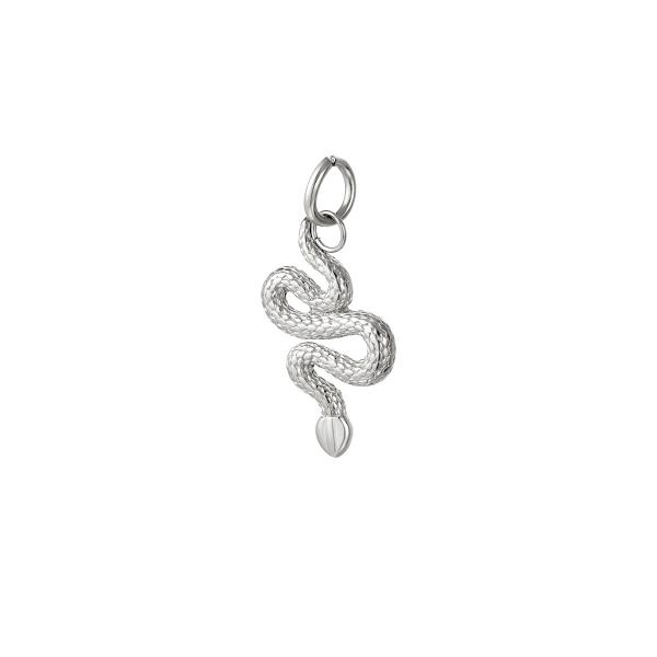 Pendentif serpent en acier inoxydable