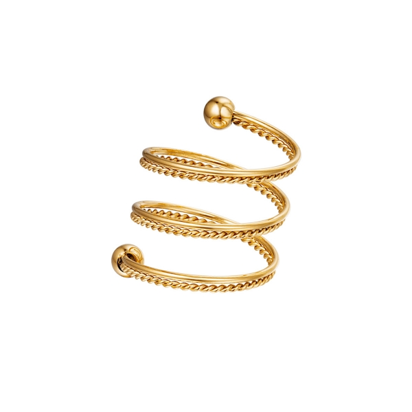 Spiral ring chain stainless steel