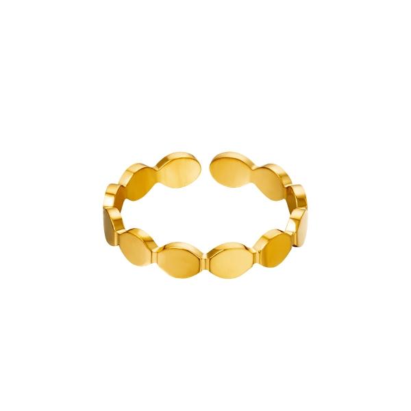 Acier inoxydable anneau ovaleurs