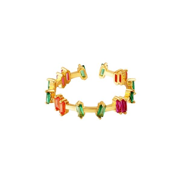 Adjustable ring zircon stones