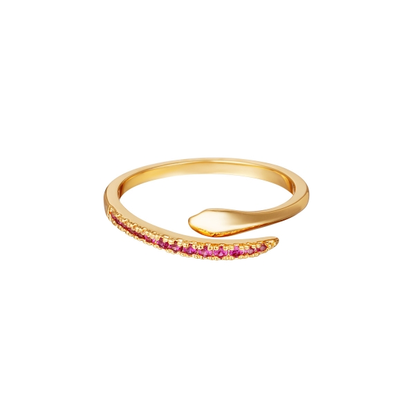 Adjustable snake ring with zircon stones