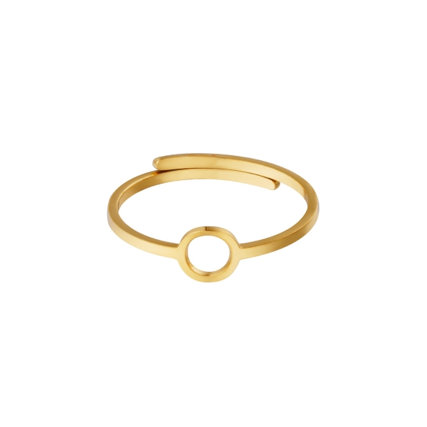 Adjustable ring open circle