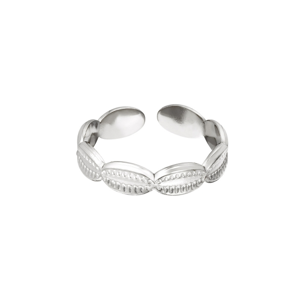 Stainless steel ring sea shells