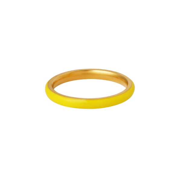 Stainless Steel Ring With Colored Coating