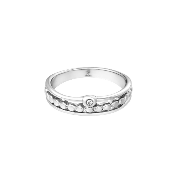 Stainless steel ring dots stone