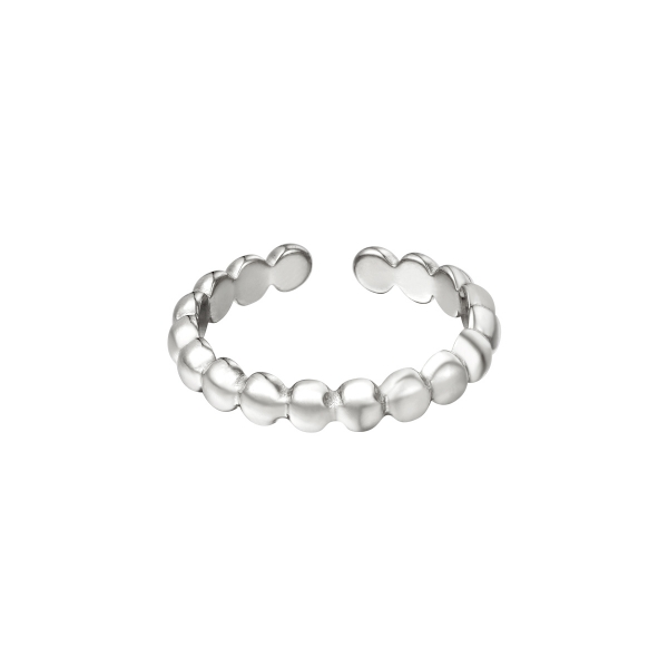 Stainless steel ring row of circles