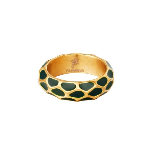 Patrón de anillo de jirafa