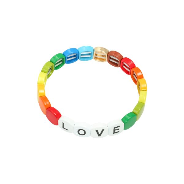 Pulsera colourful love round