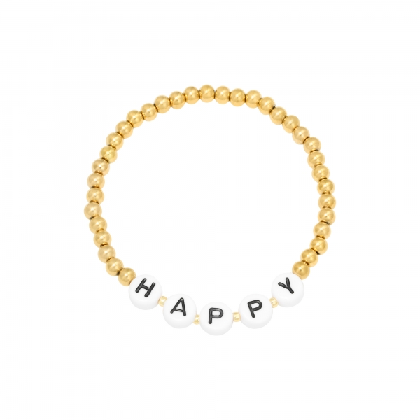 Pulsera beaded happy