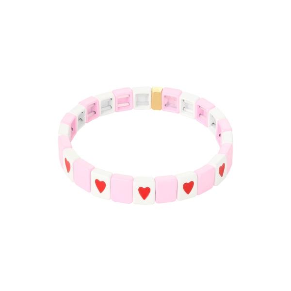 Pulsera Colored Bricks Heart