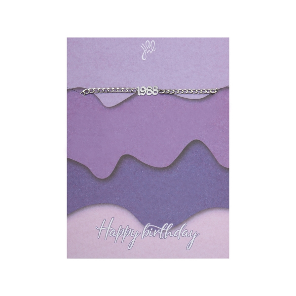 Pulsera happy birthday years - 1988