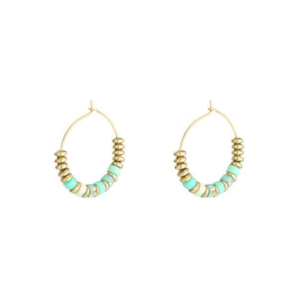 Earrings beaded hoops