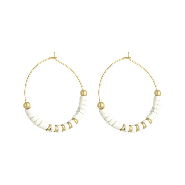 Pendientes beaded hoops xl