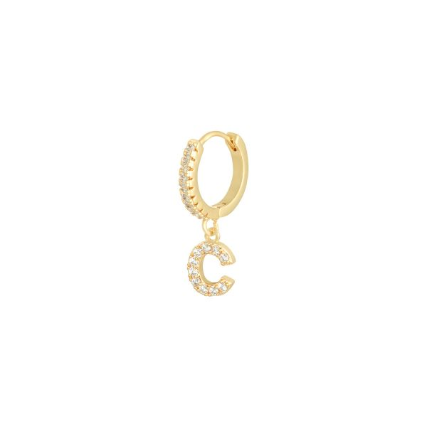 Earrings Letter C