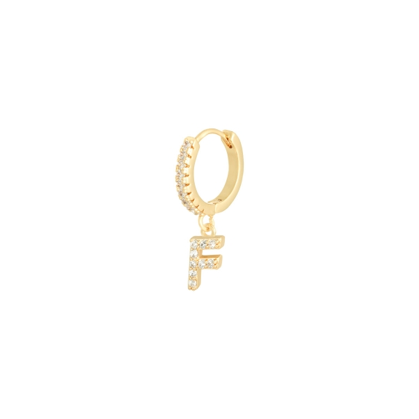 Earrings letter f