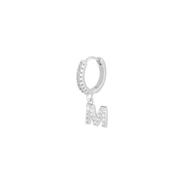 Earrings letter m
