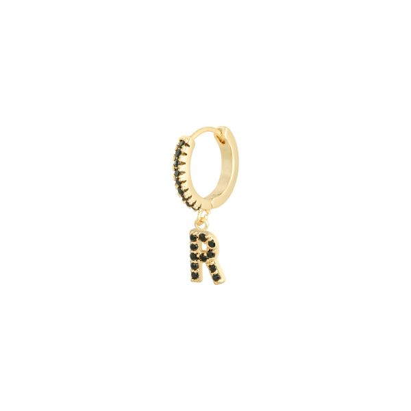 Earrings letter r