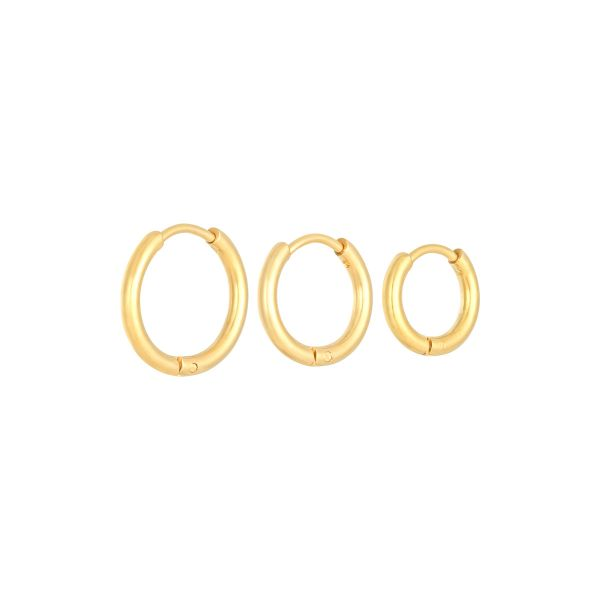 Earrings set little hoops