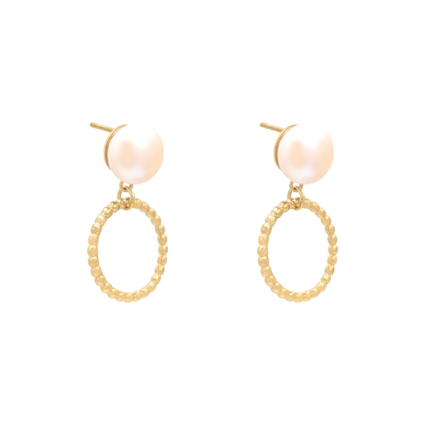 Earrings pearl motion