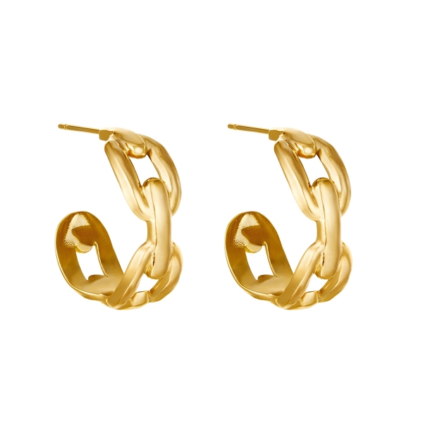 Pendientes Oval Chain