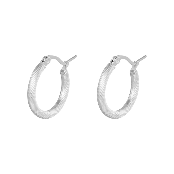 Oorbellen hoops twisted 22 mm