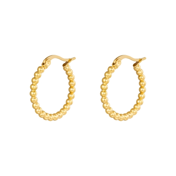 Earrings hoops spheres 22 mm