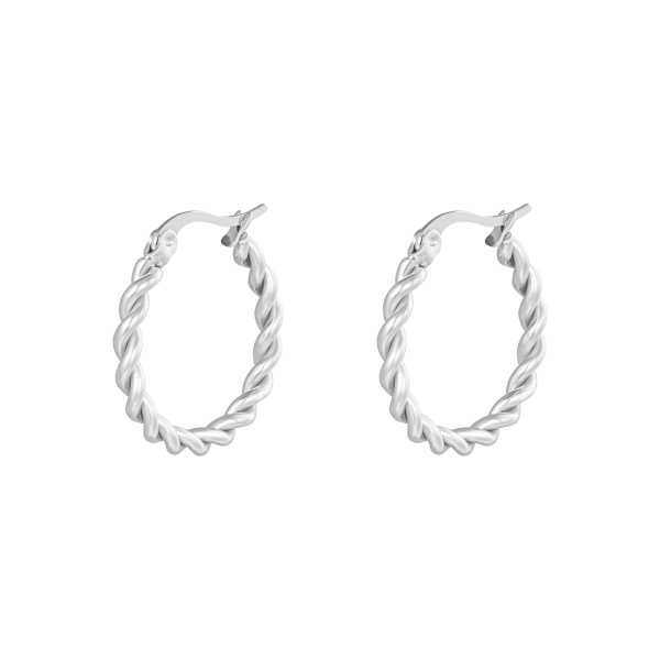 Boucles d'oreilles hoops twine 22 mm