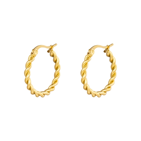 Earrings hoops twine 22 mm