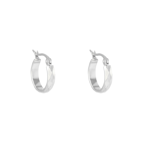 Earrings creole diamond