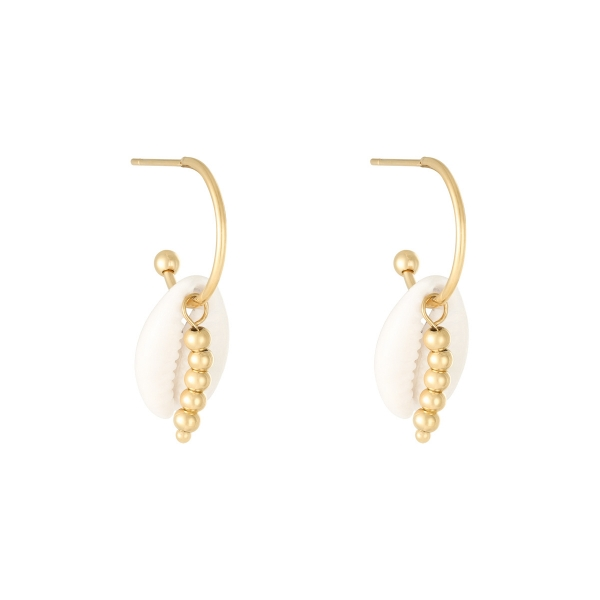 Boucles d'oreilles pearl with beads