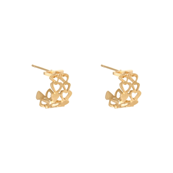 Earrings bonded hearts