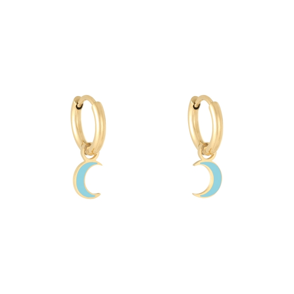 Earrings pastel moon