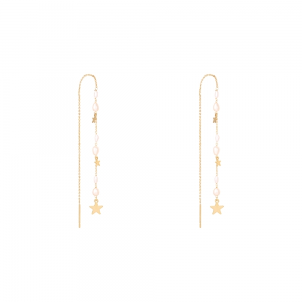 Boucles d'oreilles drop down stars