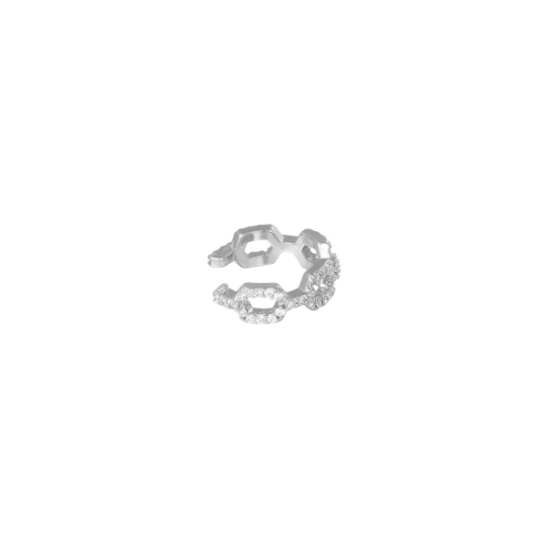 Earcuff diamond linked