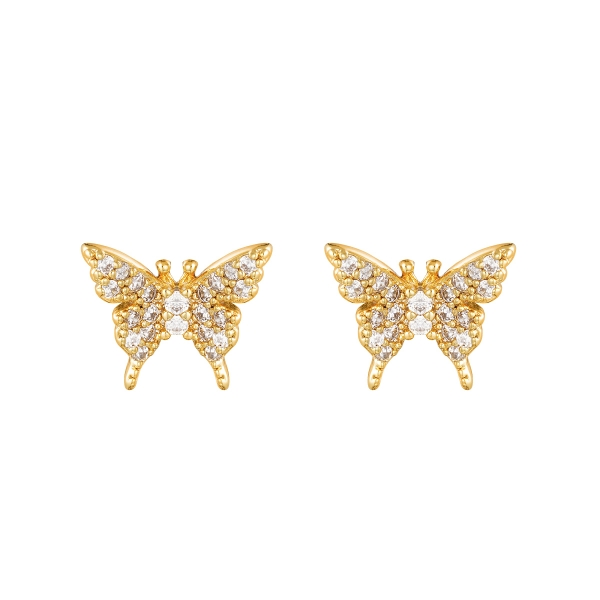 Pendientes sparkling butterfly
