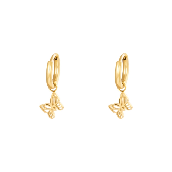 Boucles d'oreilles Floating Butterfly