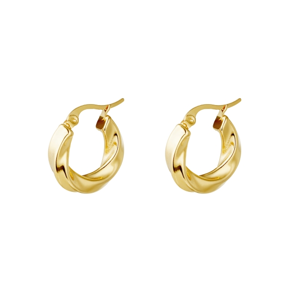 Earrings hoops swirl