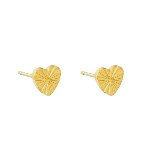 Earrings heart rays