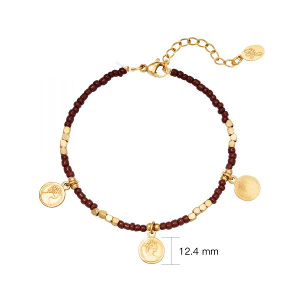 Pulsera beads and coins